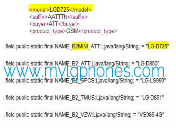 LG G3 Mini Spotted Online with HD Display, 8MP Camera