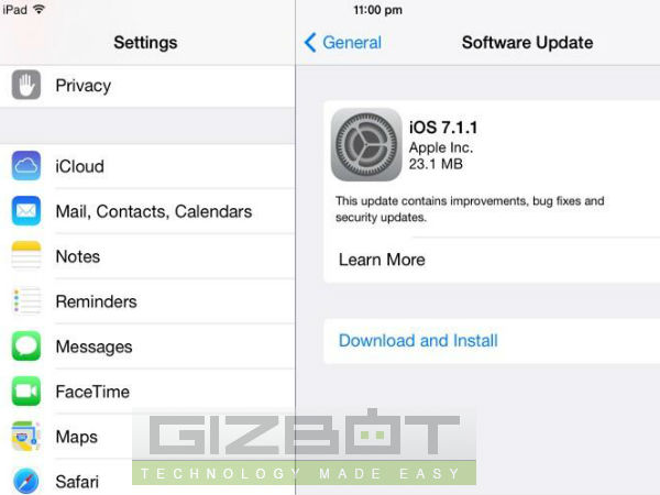 Apple Releases iOS 7.1.1 update To Fix Touch ID, Keyboard Issues