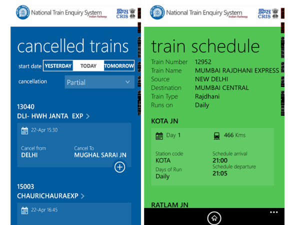 Indian Railway Inquiry App For Windows Phone 8 Launched