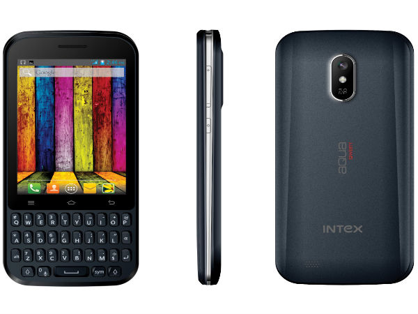 Intex Aqua Qwerty Launches Touch And Type Smartphone At Rs 4,990