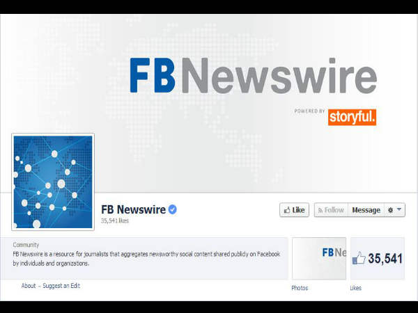 Facebook Introduces FB Newswire Service For Journalists