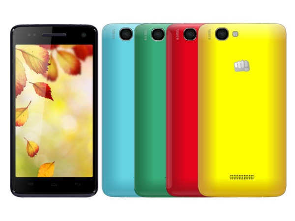 Micromax Canvas 2 Colors A120 with 5-Inch HD Display Now ...