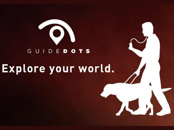 Guide Dots Android and iOS App Introduced for the Visually Impaired