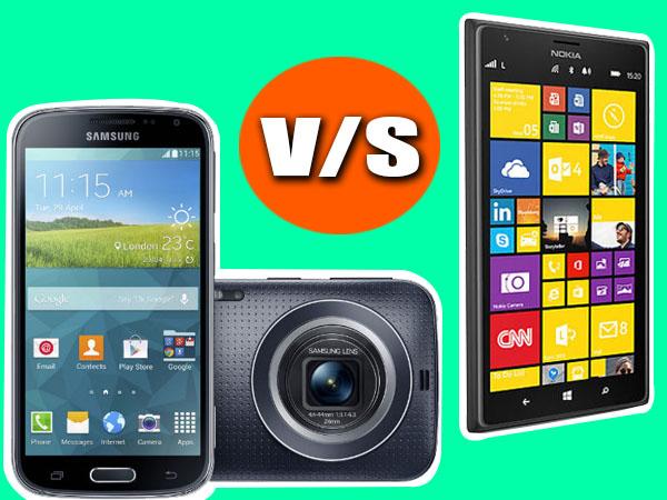 Samsung Galaxy K zoom Vs Nokia Lumia 1520: Specs Comparison