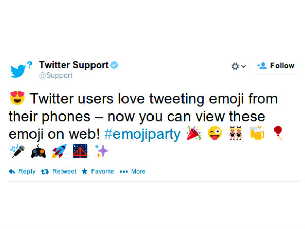 Twitter Brings Emoji Support for Web Interface