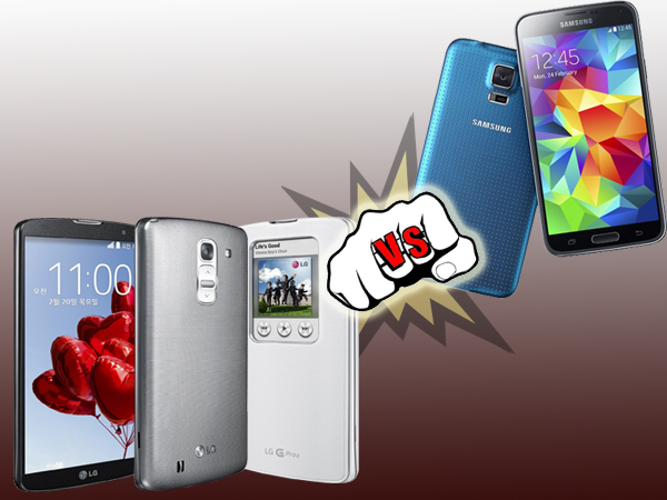 LG G Pro 2 Vs Samsung Galaxy S5: Specs Comparison