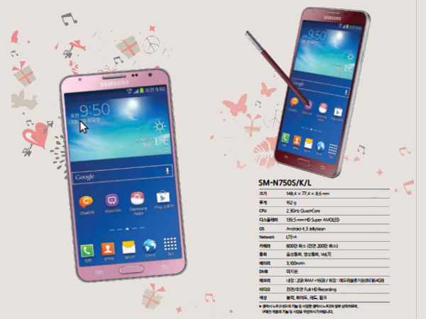 Samsung Galaxy Note 3 Neo In Red and Pink Variants To Arrive Soon