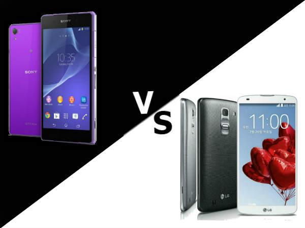 Sony Xperia Z2 Vs LG G Pro 2: Specs Comparison
