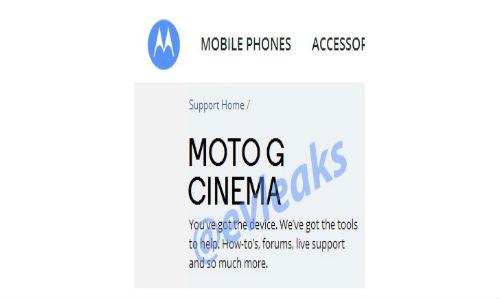 Motorola Moto G Cinema Spotted on Company Website