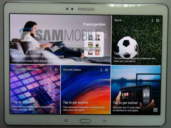 Samsung Galaxy Tab S 10.5:  Live Images of AMOLED Tablet Leaks Out