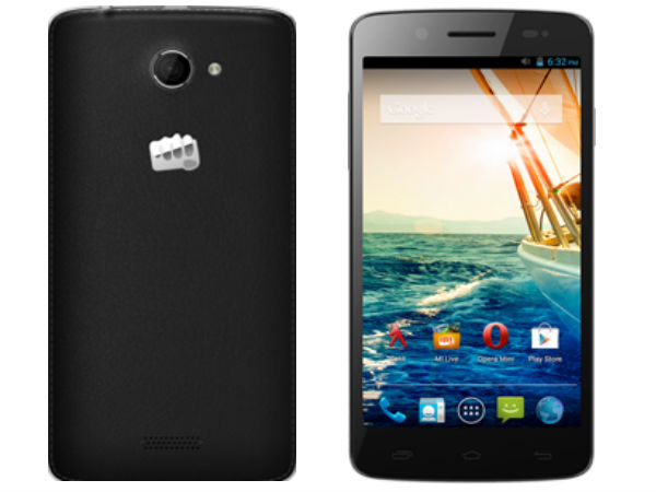 Micromax Canvas Elanza 2 A121 Now Available Online For Rs 9,340