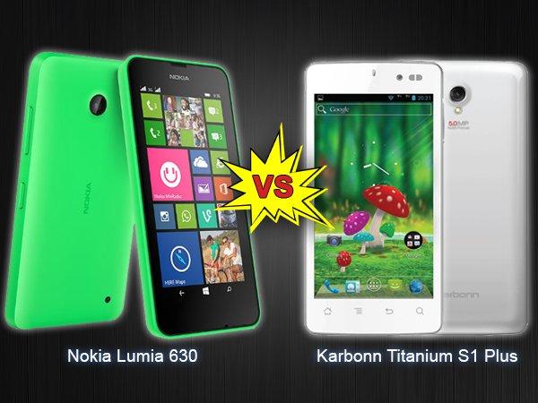 Nokia Lumia 630 Vs Karbonn S1 Titanium Plus: Specs Comparison