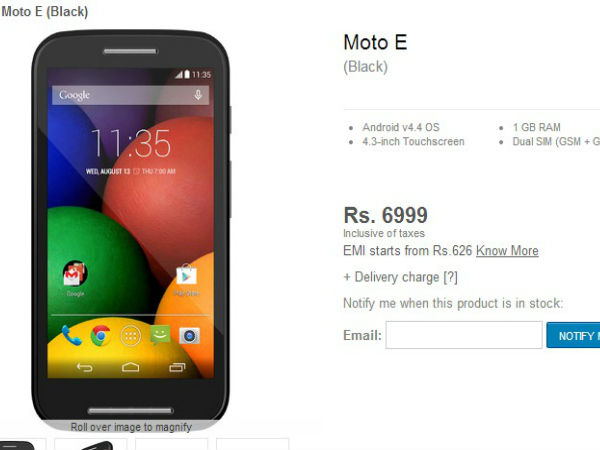 Moto E – Introductory Offer and Availability