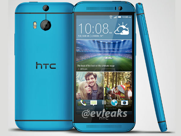 HTC One M8 with Android KitKat Leaks Online in Blue Casing