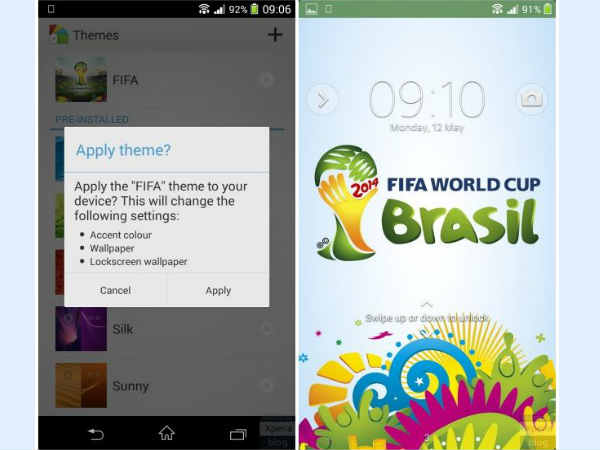 FIFA World Cup 2014 Styled Sony Xperia Theme Shows Up Online