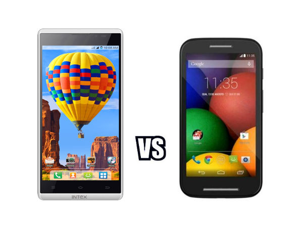 Motorola Moto E Vs Intex Aqua i5HD:  Battle of the Budget Warriors