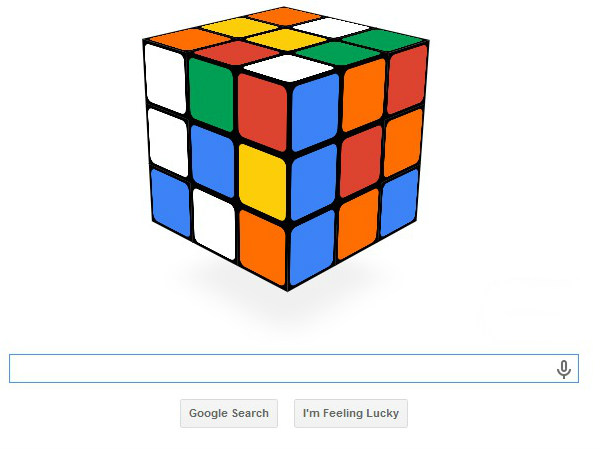 Play Rubik's Cube With today's Interactive Google Doodle