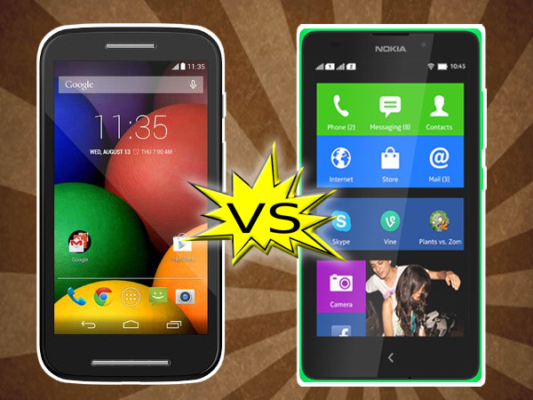 Nokia XL Vs Motorola Moto E: Specs Comparison