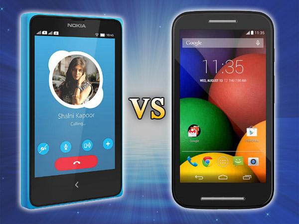 Nokia X+ Vs Motorola Moto E: Specs Comparison