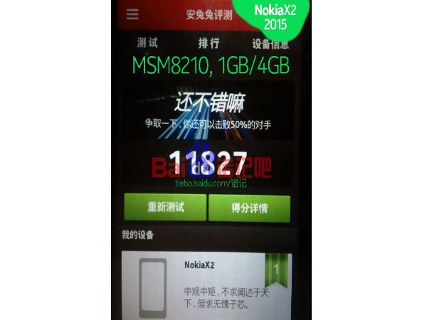 Nokia X2 Leaks Online Along With AnTuTu Benchmark Scores and Specs