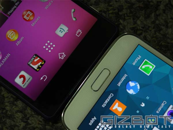Galaxy S5 Vs Xperia Z2: Performance and OS