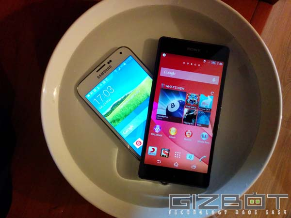 Galaxy S5 Vs Xperia Z2: Design and Build