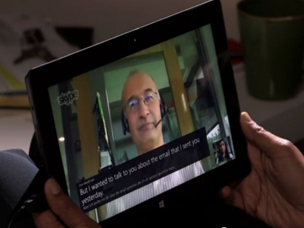 Microsoft Shows Skype Translator App With Real-Time Speech Translation