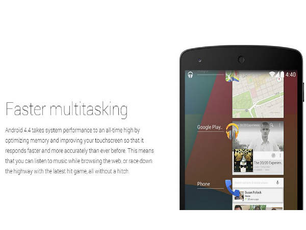 KitKat for Tablets: Multi-Tasking