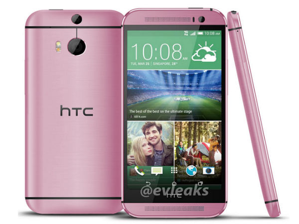 HTC One M8 in Pink Leaked Online