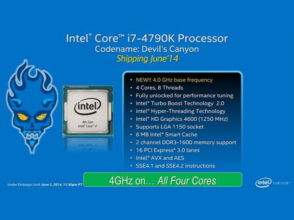 4th Generation Intel Core i7 and i5 CPU