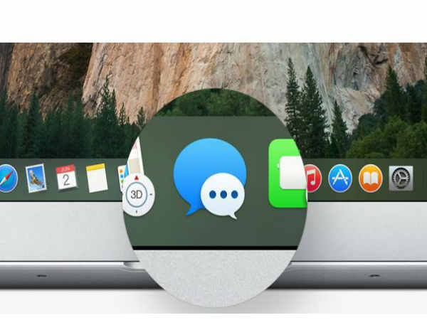 Mac OS X Yosemite: Cleaner Dock