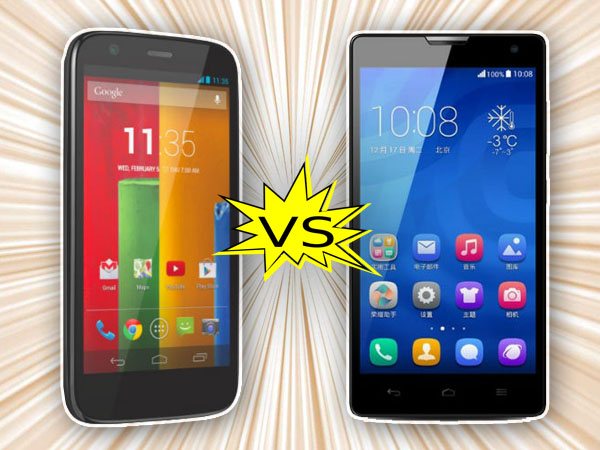 Huawei Honor 3C Vs Motorola Moto G: Specs Comparison