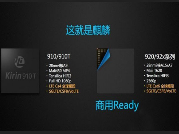 Huawei Unveils Kirin 920 Octa-Core SoC For Upcoming Flagships