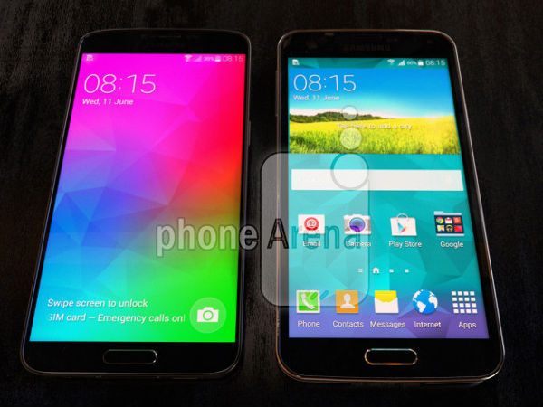 Samsung Galaxy F Photographed Next to Galaxy S5: Leak Update