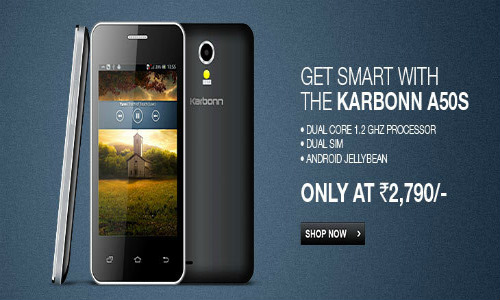 Karbonn A50s: Affordable Dual-Core Smartphone Now Available Online