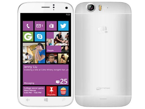 Micromax Launching Two Windows Phone 8.1 Smartphones on June 16