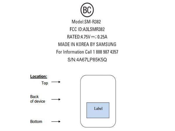 Samsung SM-R382 Smartwatch Spotted Online