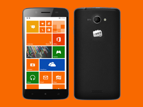 Micromax Canvas Win W121, W092: Windows Phone 8.1 Smartphones Launched