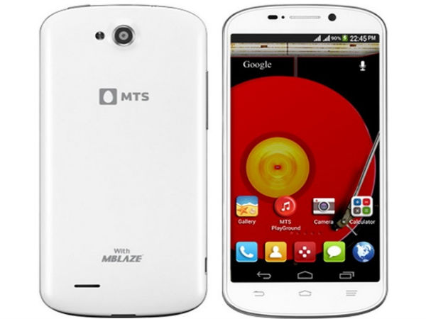 MTS Blaze 5.0 Dual SIM Android Smartphone Launched At Rs 10,999
