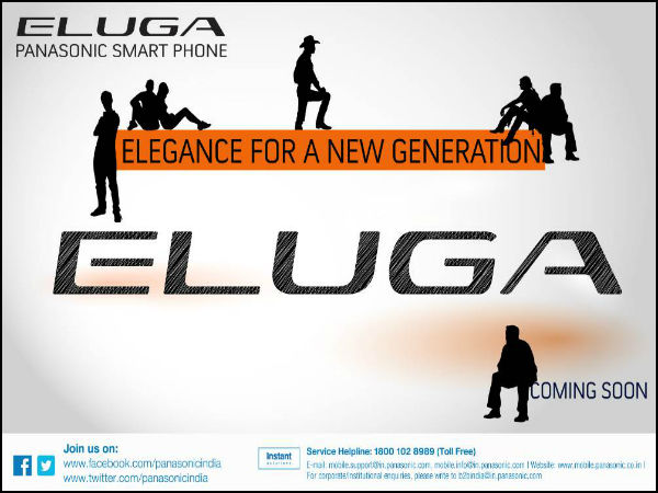 Panasonic Confirms Eluga Smartphones Coming to India Very Soon