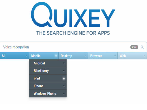 Quixey Searches In-App Data On Your Smartphone On the Go