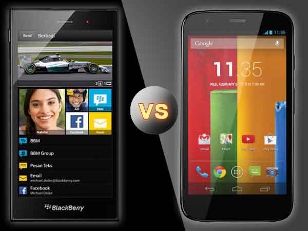 BlackBerry Z3 Vs Motorola Moto G: Specs Comparison