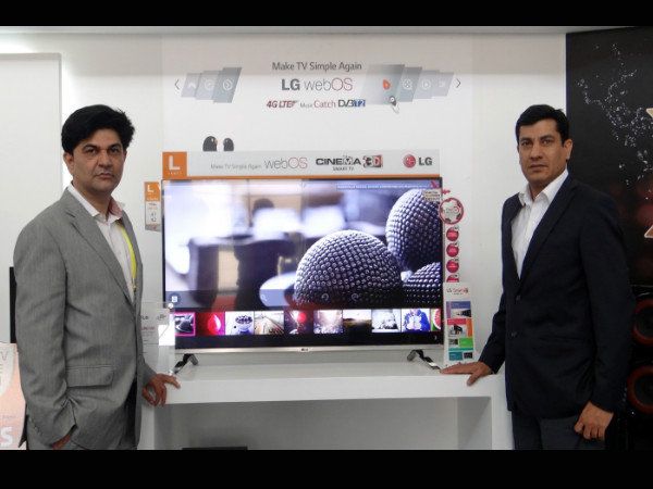 LG unveils Ultra HD TV and WebOS Cinema 3D TV At India Gadget Expo