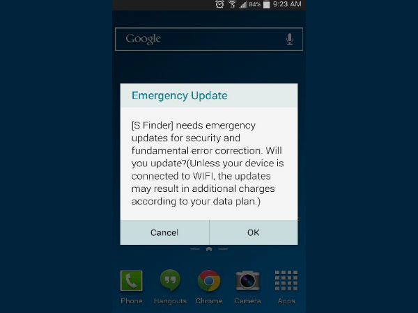 Samsung Rolling Out 'Emergency' S Finder Software Update For Galaxy S5