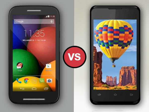 Intex Aqua 3G Vs Motorola Moto E: Specs Comparison