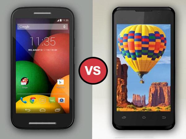 Intex Aqua 3G Vs Motorola Moto E: Specs Comparison