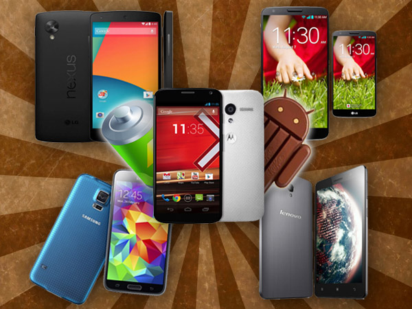 5 Best Android KitKat Smartphones With Impressive Battery Backup
