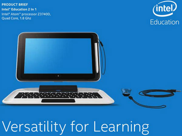 Intel Education 2 In 1 Tablet Cum Laptop Launches In India