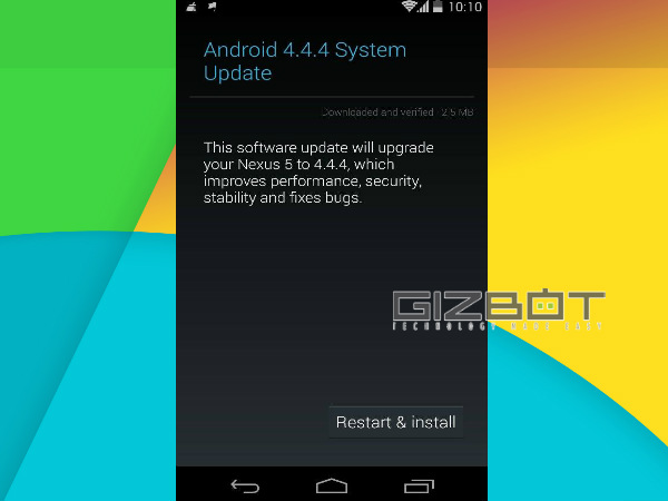 Nexus Devices in India Now Receiving Android 4.4.4 KitKat Update
