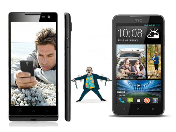 HTC Desire 516 Vs Xolo Q1100: Specs Comparison